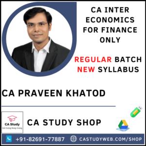 CA INTER ECO FOR FINANCE REGULAR BY CA PRAVEEN KHATOD