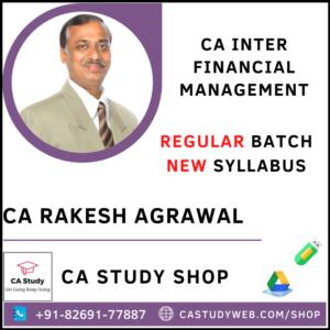 FINANCIAL MANAGEMENT REGULAR BY CA RAKESH AGRAWAL