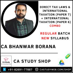 Direct Tax Laws & International Taxation Combo by CA Bhanwar Borana