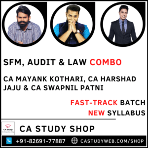 SFM Audit Law New Syllabus Fastrack Combo By CA Mayank Kothari CA Swapnil Patni CA Harshad Jaju
