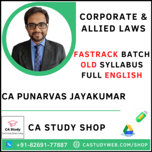 CA Punarvas Jayakumar Pendrive Classes Final Law Fastrack