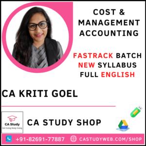 CA Kriti Goel Pendrive Classes CA Inter Costing