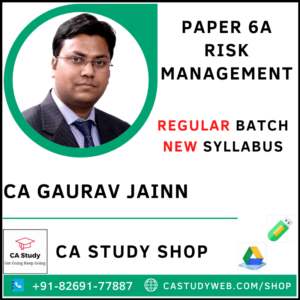 CA Gaurav Jain Pendrive Classes Risk Management Regular