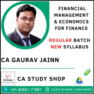 CA Gaurav Jain Pendrive Classes FM Eco Regular