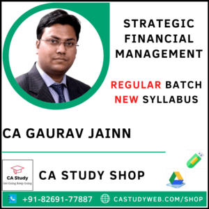 CA Gaurav Jain Pendrive Classes SFM New Regular
