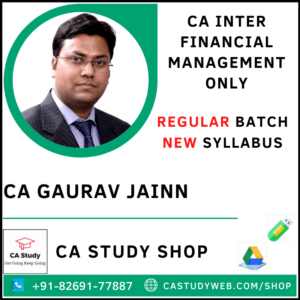 CA Gaurav Jain Pendrive Classes FM Regular