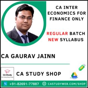 CA Gaurav Jain Pendrive Classes Eco for Finance Regular