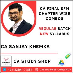 CA Sanjay Khemka Pendrive Classes Exclusive SFM Chapter Wise Combos
