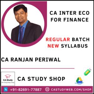 CA Ranjan Periwal Pendrive Classes Inter Eco for Finance
