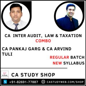 CA Inter Audit Law & Taxation Combo by CA Pankaj Garg & CA Arvind Tuli