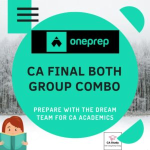 CA FINAL BOTH GROUP COMBO COURSE BY ONEPREP