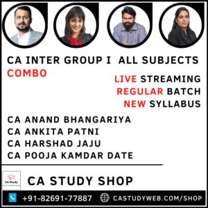 CA Inter Group I Combo Live Streaming Batch by Swapnil Patni Classes