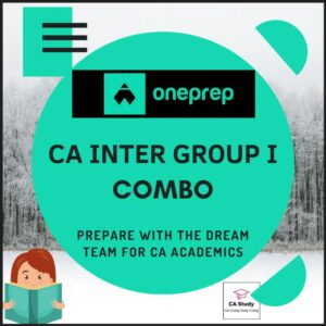 CA INTER GROUP I COURSE BY ONEPREP