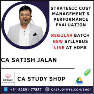 CA Satish Jalan SCM PE Live Classes