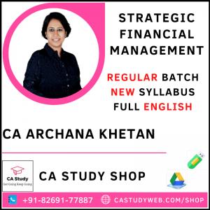 CA Archana Khetan SFM Pendrive Full English