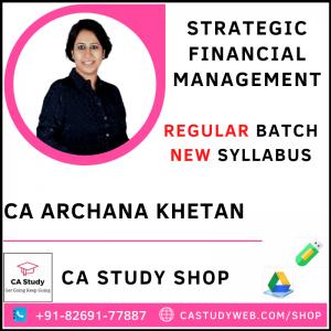 CA Archana Khetan SFM Pendrive Classes